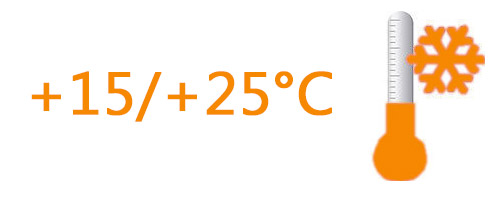 Ambiant (+15°C à +25°C)