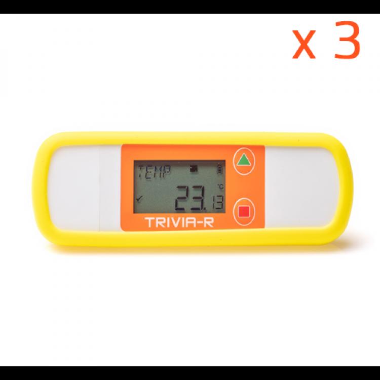 Enregistreur de température Trivia-R, coque silicone jaune