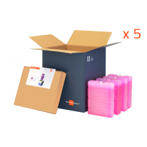 Lot de 5 caisses Initial Box 6 litres - Congelé