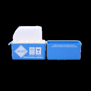 coffret de prlevements sanguins Unibox ECO UN3373 ouvert