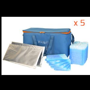 Lot de 5 kits Initial 40L - 11H (utile 19L) PHARMA