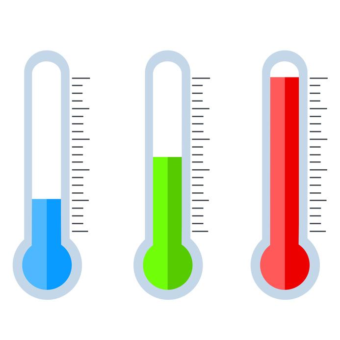 différentes température